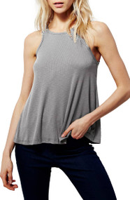 Free People Long Beach Tank- Grey