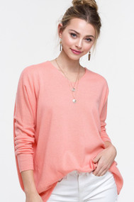 The Bree Sweater- Coral