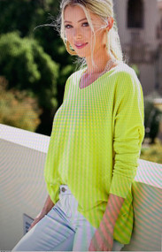 The Bree Sweater- Lime