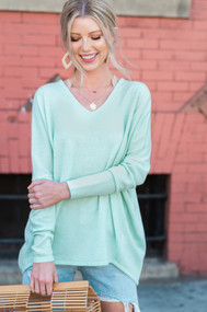 The Bree Sweater- Mint