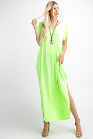 The Cora Maxi- Neon Lime