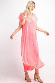 The Cora Maxi- Neon Pink