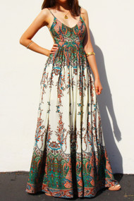 The Karla Maxi Dress- Paisley