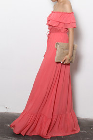 The Samantha Maxi Dress- Coral