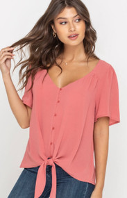 The Bobbie Top- Rose