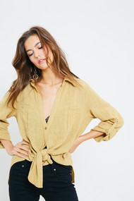 The Janelle Top-Mustard