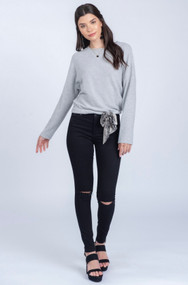 The Sienna Sweater- Grey