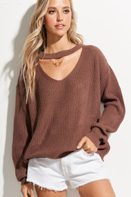 The Aria Sweater- Red Bean