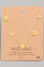 The Mommy Necklace-Gold