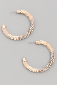The Jasmin Earrings- Taupe