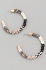 The Jasmin Earrings- Grey
