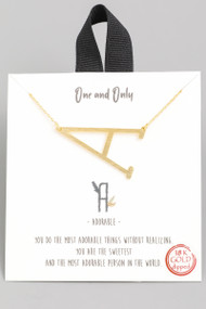 The One and Only Initial Necklace- Letter A