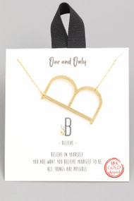 The One and Only Initial Necklace- Letter B