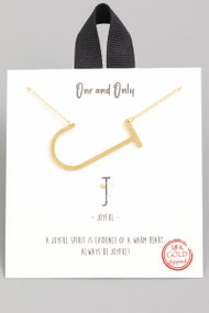 The One and Only Initial Necklace- Letter J