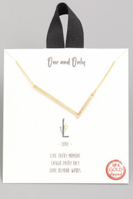 The One and Only Initial Necklace- Letter L