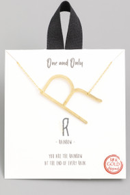 The One and Only Initial Necklace- Letter R