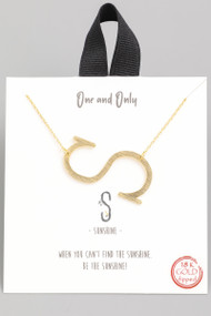 The One and Only Initial Necklace- Letter S