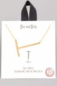 The One and Only Initial Necklace- Letter T
