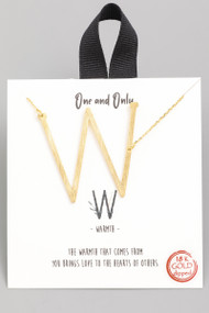 The One and Only Initial Necklace- Letter W