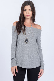 The Isabella- Top- Grey