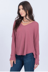 The Amelia Top- Mauve