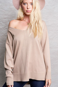 The Bree Sweater- Light Mocha