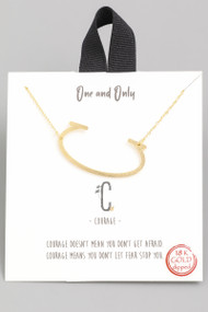The One and Only Initial Necklace- Letter C