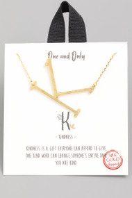 The One and Only Initial Necklace- Letter K