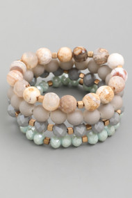 The Layla Bracelets- Mint