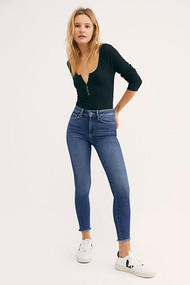 Free People Raw High Rise Jegging Jeans- Capri Blue
