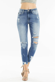 The Gemma Jeans- High Rise Ankle Skinny