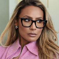 Quay Australia Don't @ Me- Desi Perkins Blue Light Glasses- Black