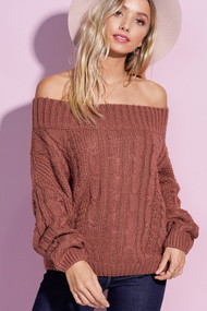 The Heather Sweater- Marsala