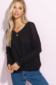 The Raegan Top- Black
