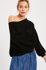 The Madison Top- Black