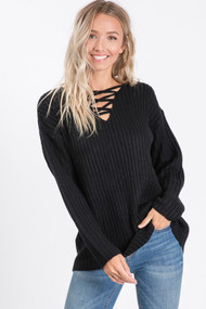 The Hilary Sweater- Black