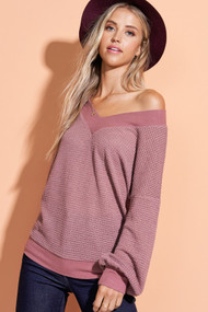 The Kayla Top-Mauve