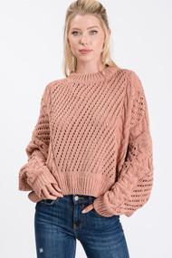 The Dallas Sweater- Mauve