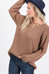 The Hilary Sweater- Mocha