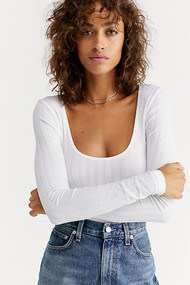 Free People Lucky You Layering Top- White