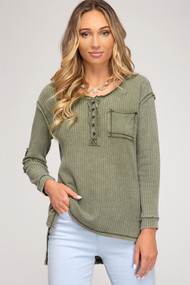The Macy Henley- Olive
