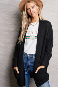 The Kim Cardigan- Black