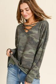 The Cade Sweater- Camo