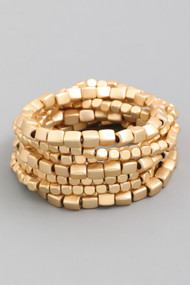 The Holly Bracelet Set- Gold