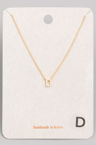 Initial D Dainty Necklace- Gold