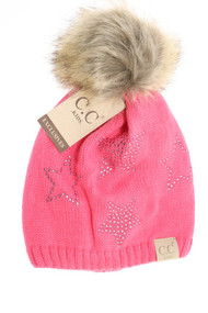 Kids C.C. Star Beanie- Candy Pink