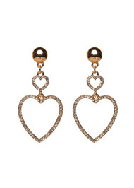 The Alexandria Drop Heart Earrings