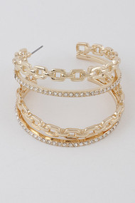 The Aria Hoops- Gold