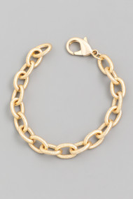 The Janie Oval Chain Bracelet-Gold