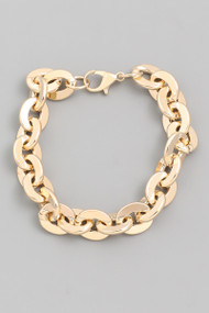 The Heather Flat Chain Bracelet- Gold